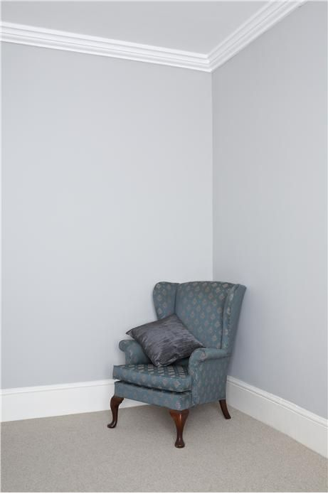 Walls in pavilion grey and trim in wimbourne white.  Love these colors.