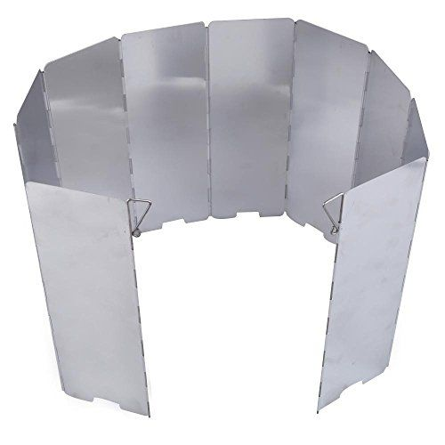 TTnight 10plates Foldable Camping Stove Wind Shield Screen Cookout Windbreak ** You can find out more details at the link of the image.