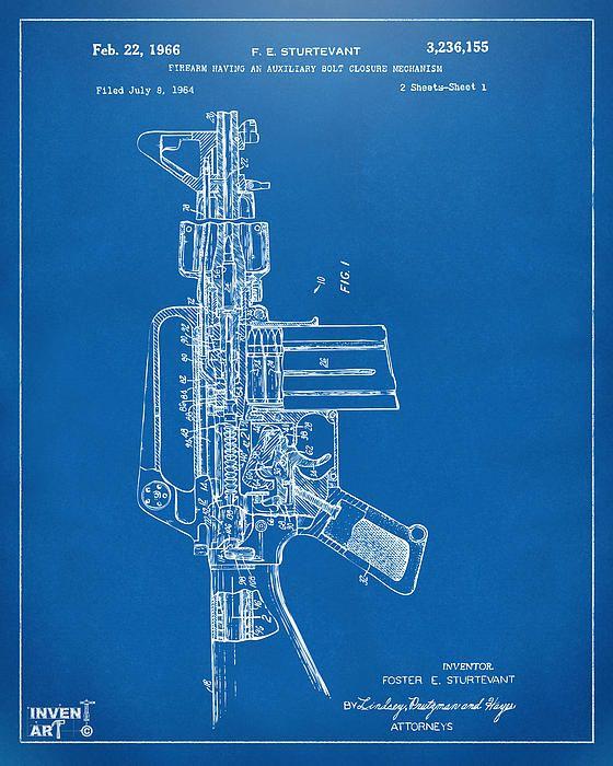 117 best wall art images on Pinterest Knowledge, Interesting facts - new blueprint gun art