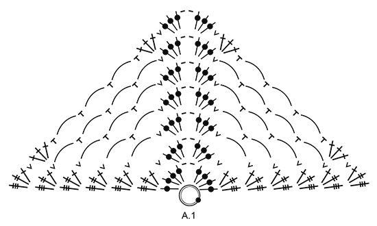 """Loren - Von oben nach unten gehäkeltes DROPS Tuch in """"Delight"""" mit Lm-Bögen und Fächern. - Free pattern by DROPS Design"""