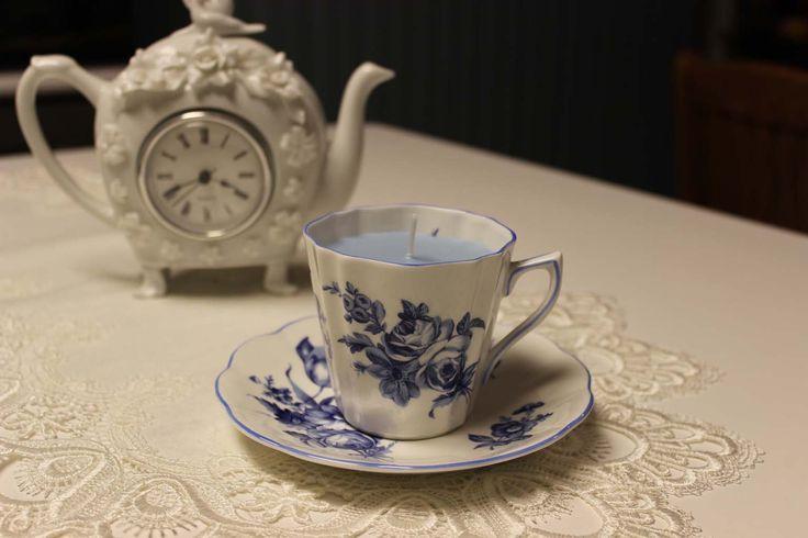 Teacup 0197 Secret Garden Scent   Lavender, Rose & Vanilla essential oils | Beautiful Daisy Designs.