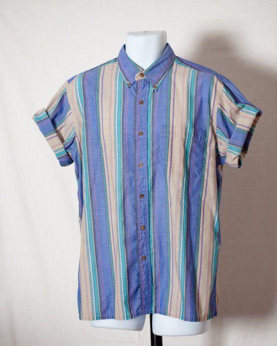 Vintage 80s Shirt Striped Button Down