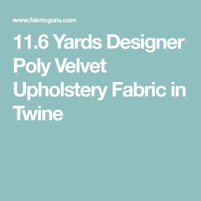 The 25 best Velvet upholstery fabric ideas on Pinterest