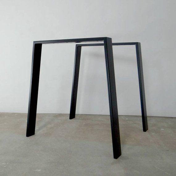 Metall Esstisch Beine Set 2 Tischbeine Eisen Tischbeine Trapez