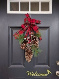 Welcome This Winter Season With Clic Pine Cone Door Ornament