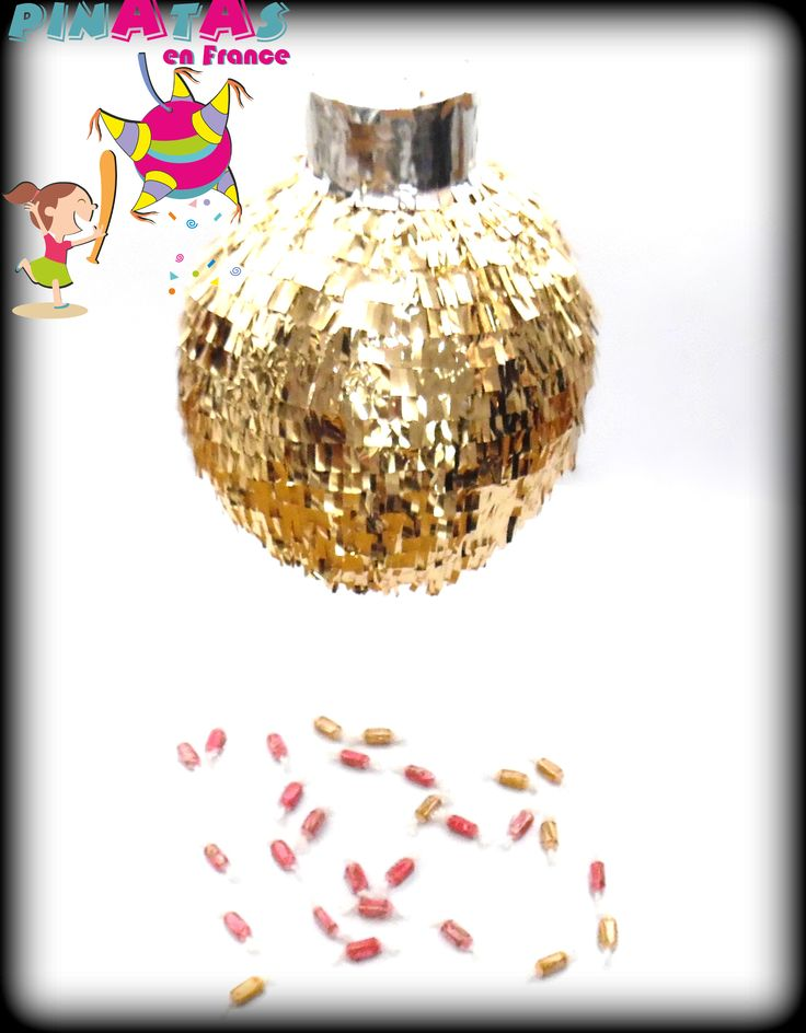 Piñata Christmas - Pinata Noël - Piñata Navidad.  Christmas Party Ideas.  Idées Noël. Esfera Navideña.  Esfera de Navidad  https://www.facebook.com/pinatasenfrance