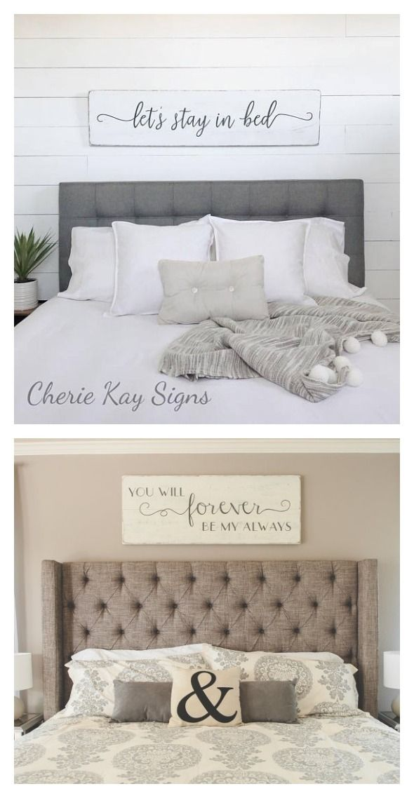 Love these bedroom signs to hang above your headboard