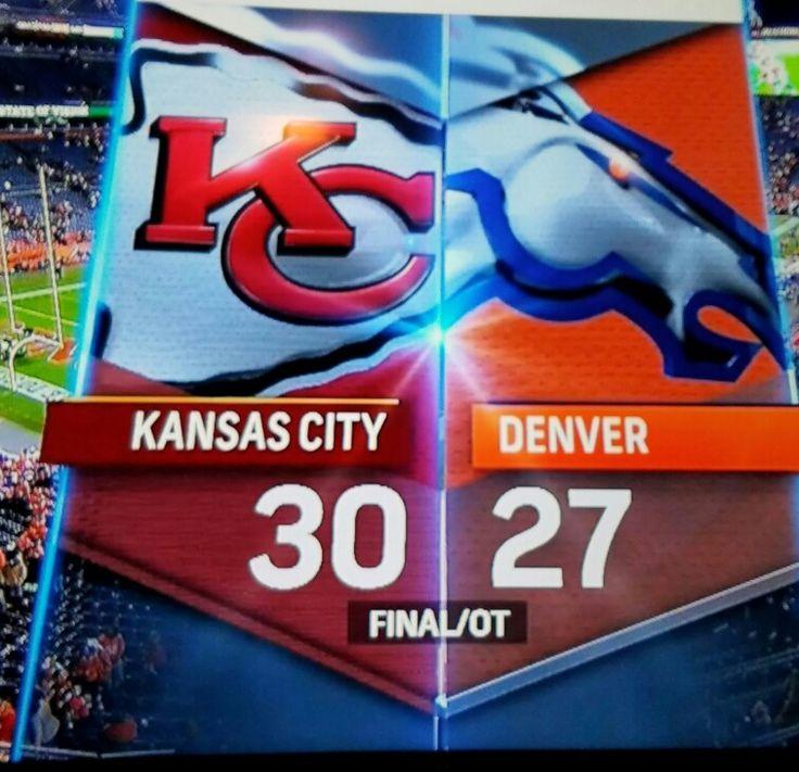 Week 12 Kansas City Chiefs 30 - Denver Broncos 27. Go Chiefs!
