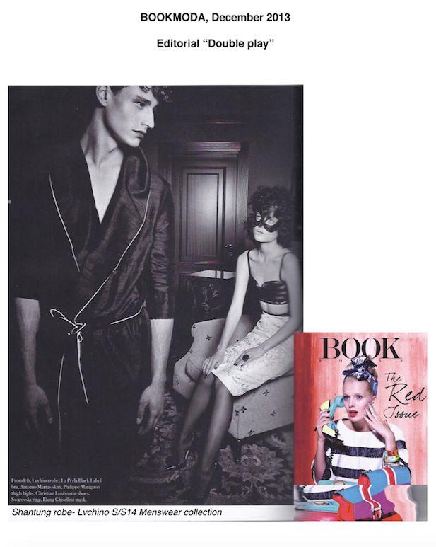 """Editorial """"Double Play"""" on BOOK MODA"""
