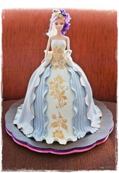 Barbie Cake with Stencil By ayupurwana on CakeCentral.com