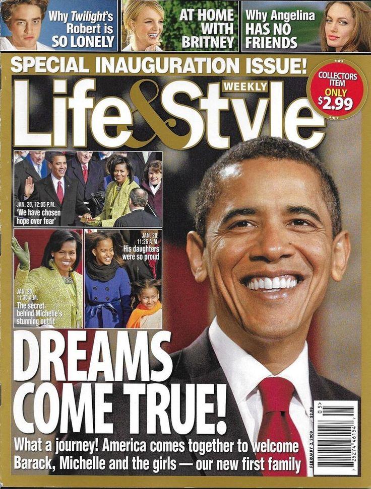 Life and Style magazine Barack Obama Angelina Jolie Robert Pattinson Madonna