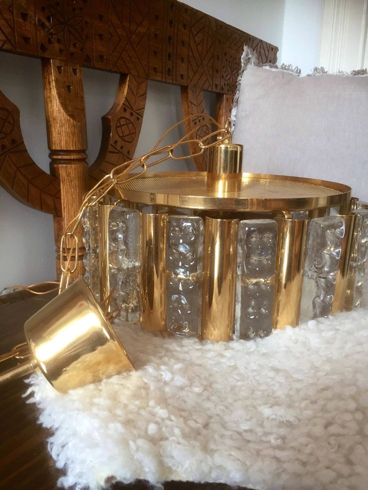 Orrefors/Hans Agne Jakobsson/Scandinavian/solid brass/crystal/glass/pendant/light/Swedish/Orrefors/ glass works/chandelier by WifinpoofVintage on Etsy