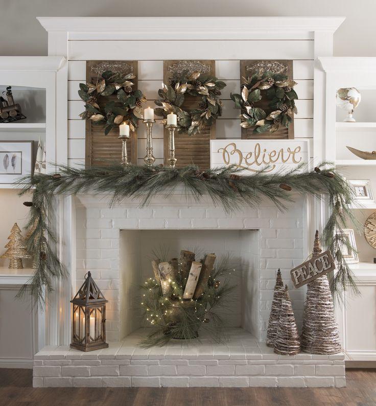 25+ unique Christmas fireplace ideas on Pinterest Christmas - christmas fireplace decor