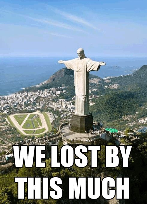 brasil lost by this much funny picture - Google Search