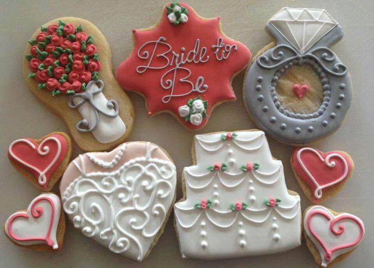 April Nicole Awadalla Bridal Assortment Beautiful Wedding Shower CookiesWedding