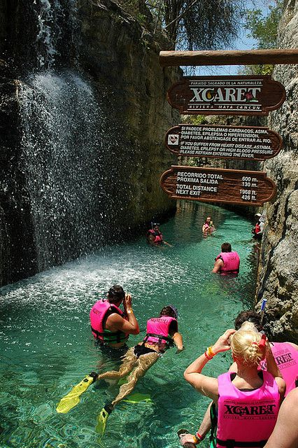 Cancun, Mexico- Xcaret Underground River, one of the coolest things you'll ever do