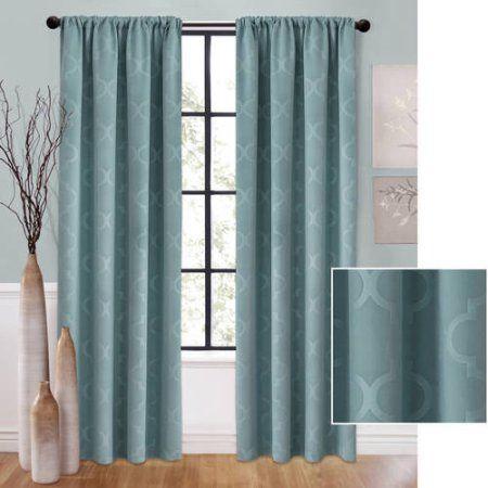Better Homes And Gardens Tonal Trellis Room Darkening Curtain Panel