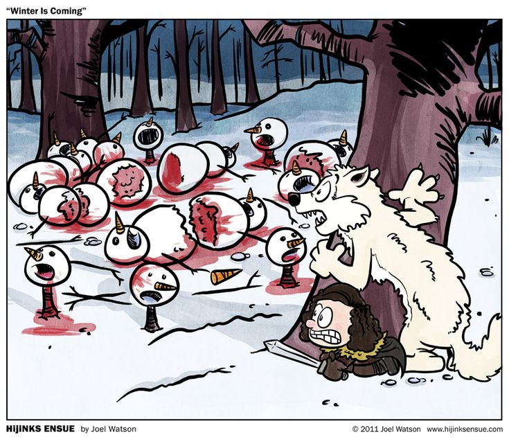 """Winter Is Coming"" - a Calvin & Hobbes style version of Game of Thrones by hijinksensue"