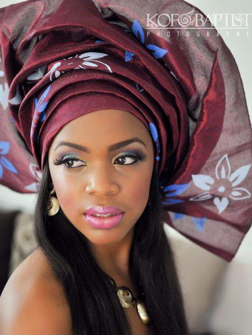 just choked on my dessert | she looks amazing! | work those lashes girl | i love gele *sigh*