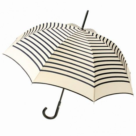 Rainy-day chic | gorgeous black and white striped umbrella, very French https://www.thesterlingsilver.com/product/ralph-sonnenbrille-ra4004/