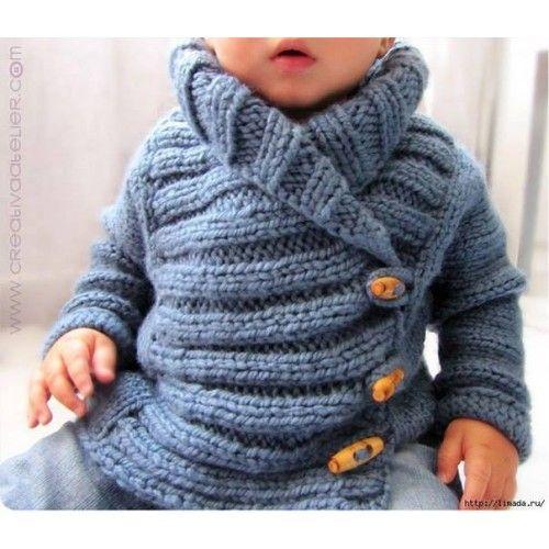 Pletený dětský kabátek