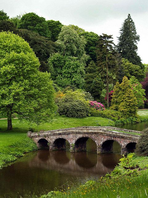 "'Arched Bridge at Stourhead House', Wiltshire by Ken Hircock {saxonfenken}.... the filming location of the recent ""Pride & Prejudice"""