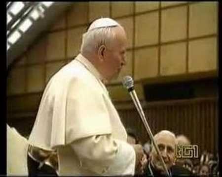 Giovanni Paolo II bellissimi fuori onda - YouTube