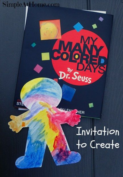 Invitation to create with My Many Colored Days by Dr. Seuss