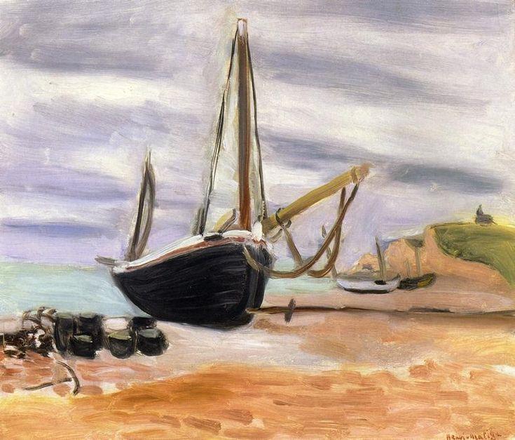 'Boats at Etretat', öl auf leinwand von Henri Matisse (1869-1954, France)