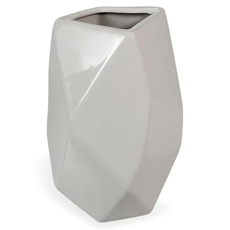 Vase en céramique gris H 21 cm BJORN