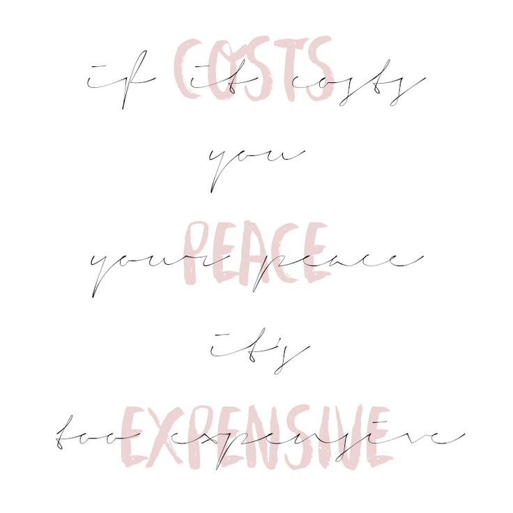 Heya Emily: If It Costs You Your Peace, It's Too Expensive : L...