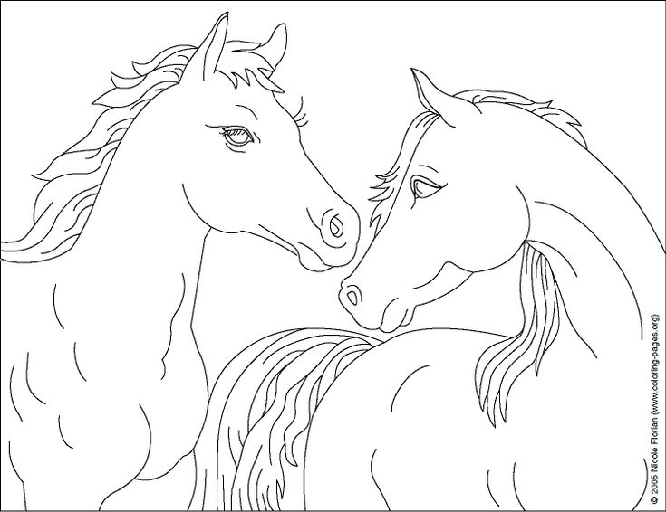 For Allie Horse Coloring Pages