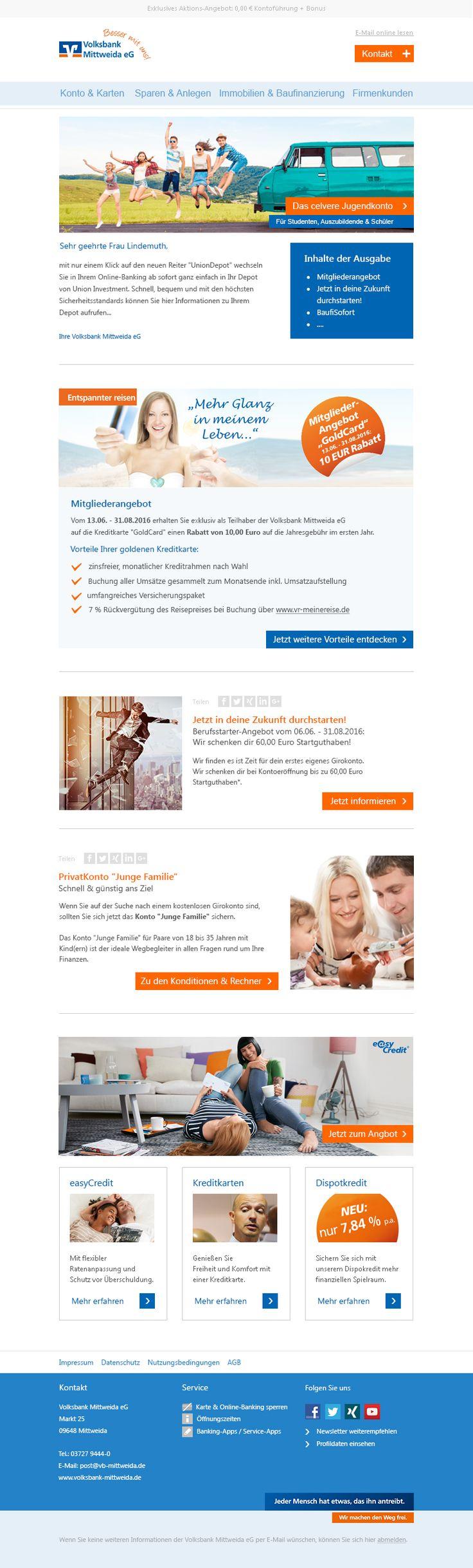 #Newsletter #Template #Emailmarketing #Volksbank
