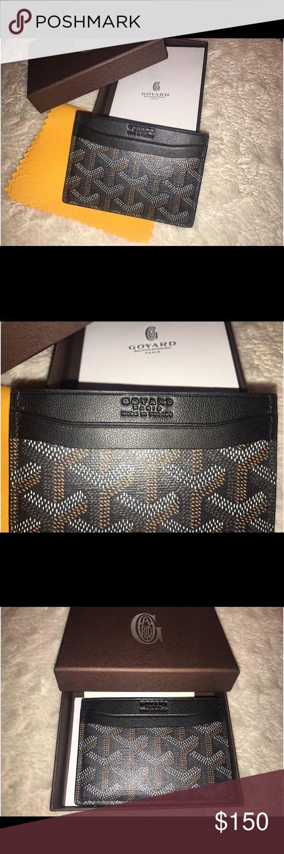 Goyard card case Goyard card holder, great price, great quality, never used! Goyard Accessories Key & Card Holders