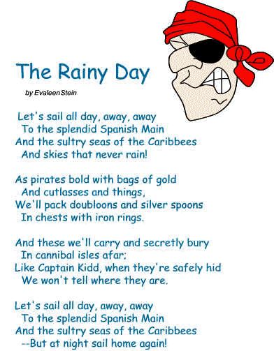 Pirate poem: The Rainy Day