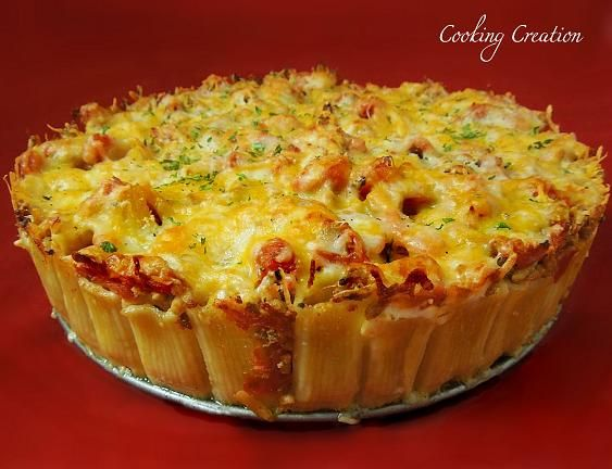 This looks so yummy!  Site has lots of great recipes.Postal Mail, Italian Pies, Ground Beef, Cooking Creations, Italian Pasta, Italian Rigatoni, Italian Recipe, Baking Rigatoni, Rigatoni Pies