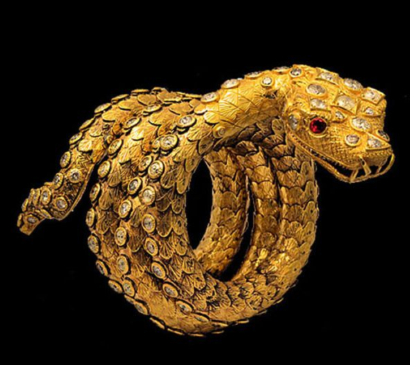 Snake Ring Gold Diamond