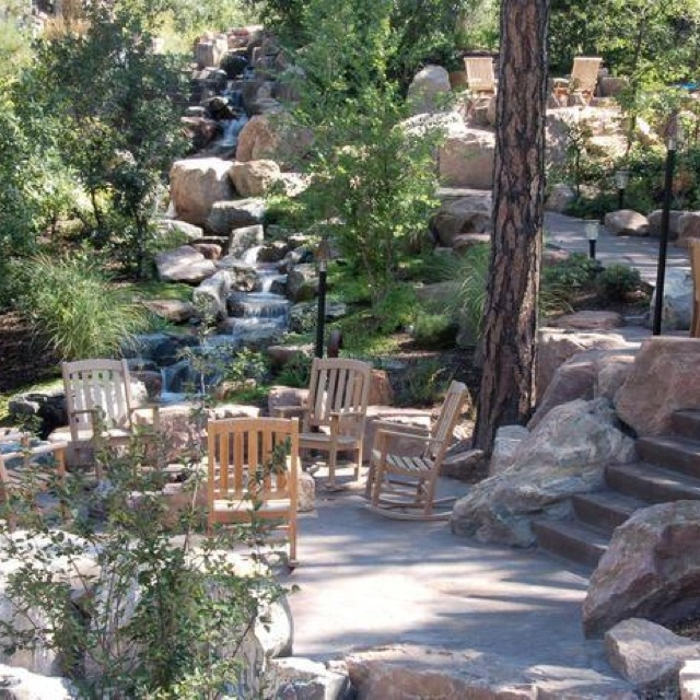 : Outdoor Oasis, Outdoor Rooms, Outdoor Retreat, Natural Patio, Beautiful Places, Backyard Oasis, Outdoor Spaces, Retaining Wall, Back Yard