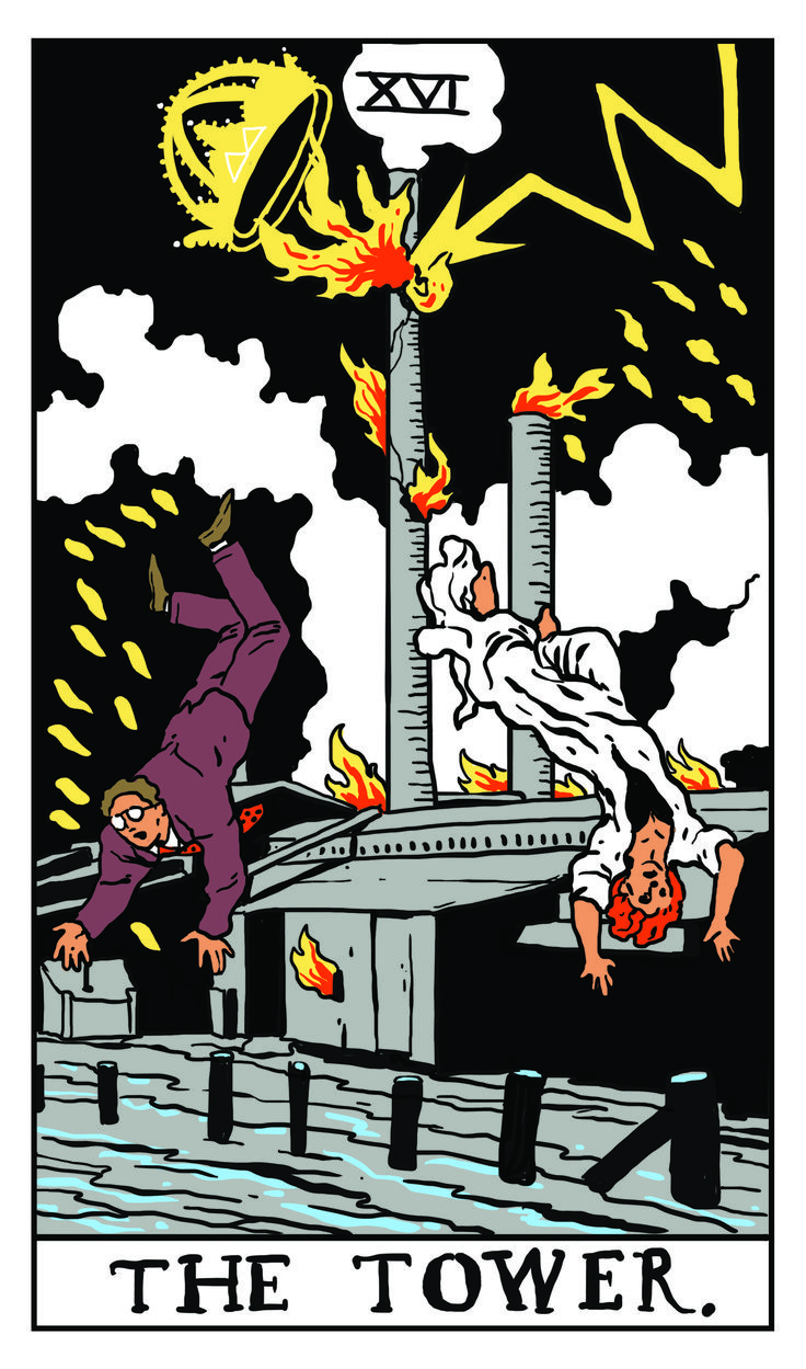 The Tower - Twin Peaks Tarot  THE PACKARD SAWMILL FIRE by Benjamin Mackey.