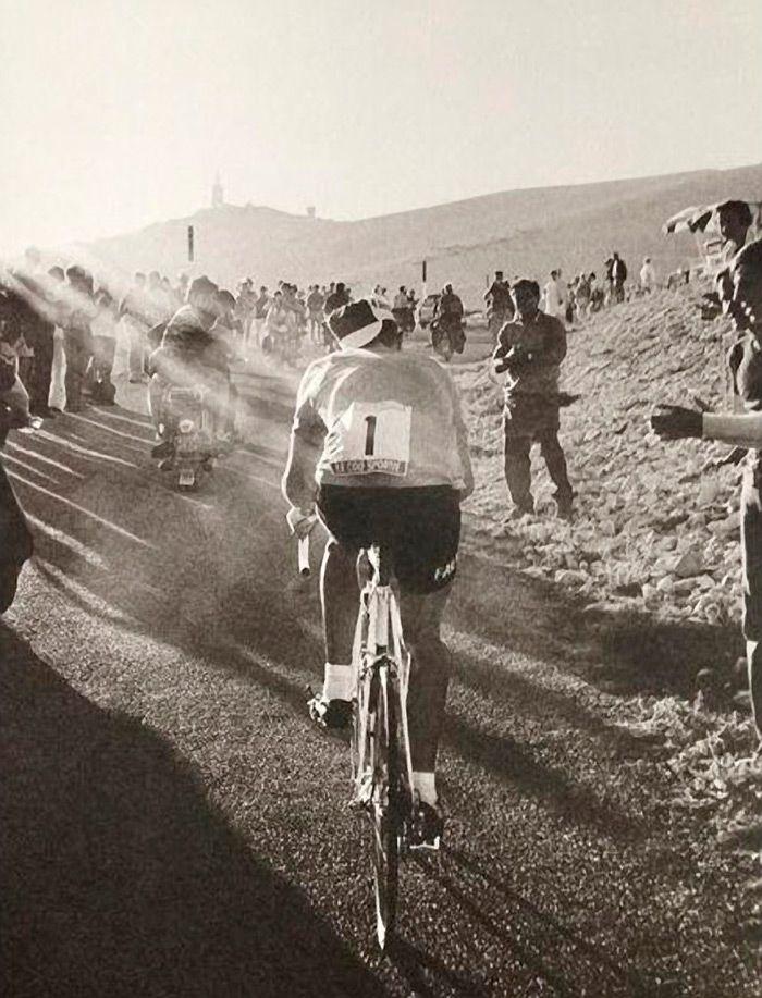 Eddy Merckx on the Mount Ventoux.
