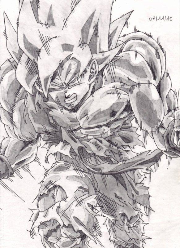 29 best images about dessins manga papier - Dessin de sangoku ...