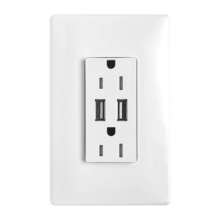 Legrand Radiant 15 Amp 125-Volt White Indoor Decorator Wall Outlet/Usb | Lowe's Canada