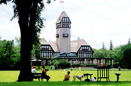 Assiniboine Park, one of the largest urban parks in North America (considerably larger than Central Park in NYC)