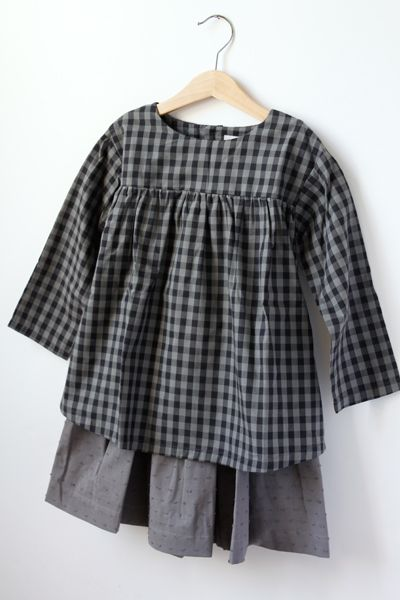 Nils & Happy to see you / Collection / Siri, smock shirt top and skirt for a little girl