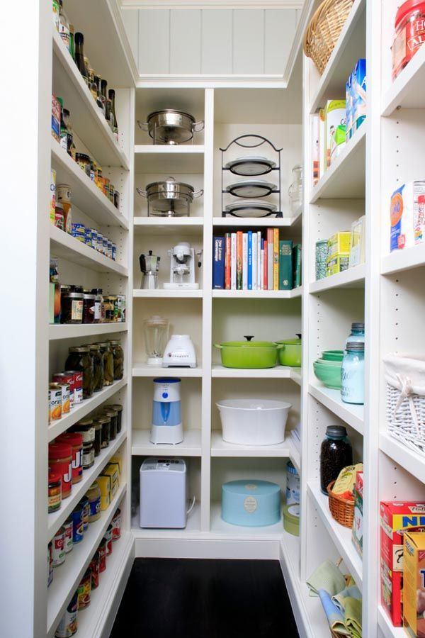 small walk-in pantry, appliance garage, and space for odd dishes and casseroles which would probably not fit anywhere else