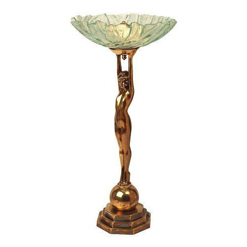 THE DECO 934 OLD GOLD LADY TABLE LAMP