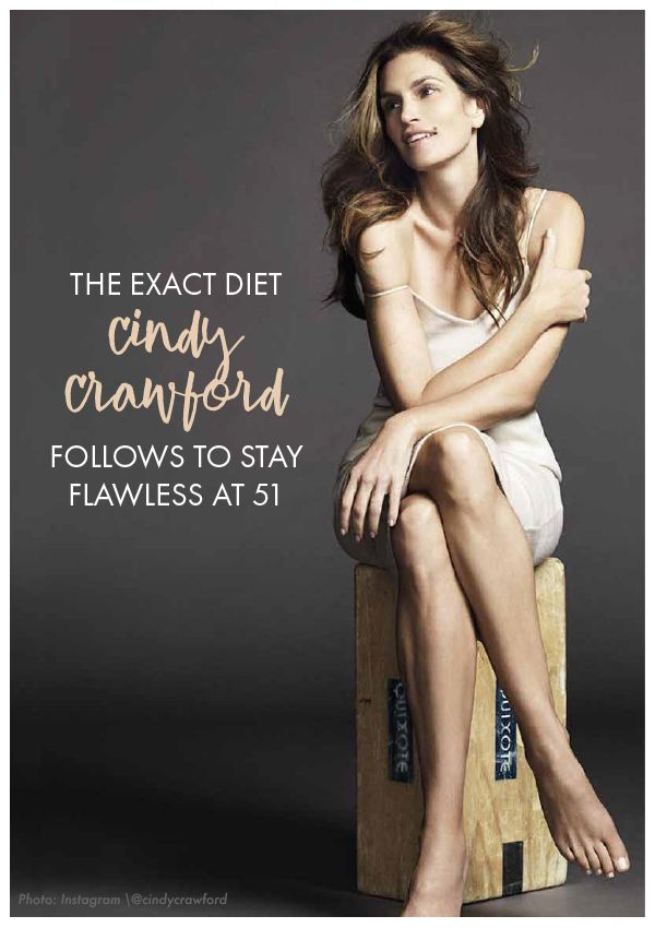 Do you love her as much as we do? Cindy Crawford is sharing the exact diet that helps her stay flawless at 51. Womanista.com