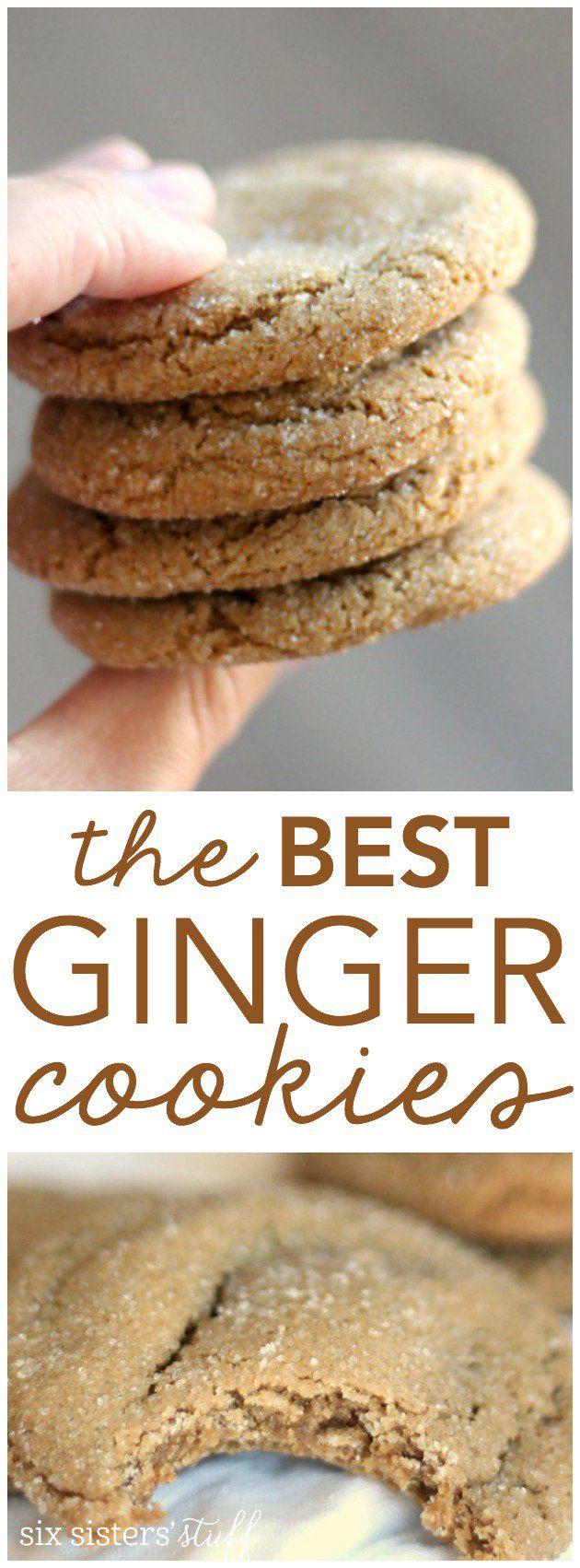 The BEST Ginger Cookies Recipe from SixSistersStuff.com