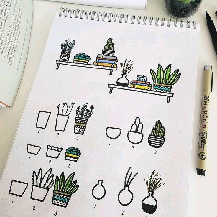 Step By Step Bullet Journal Doodle Tutorials Vol.1 – #Bullet #doodle #Journal #S