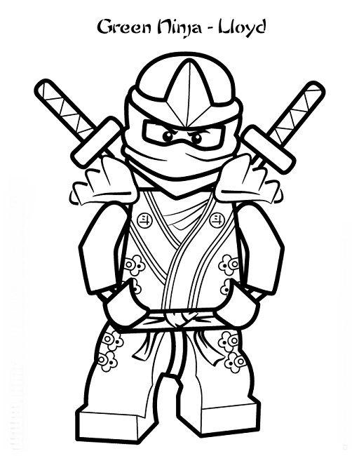 Free Printable Lego Ninjago Coloring Page